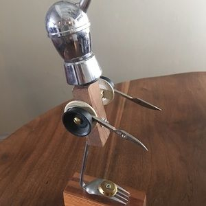 """Fun Art Robot Sculpture/Found Objects 11"""""""